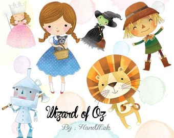 Wizard of Oz clipart: Instant Download PNG file - 300 dpi