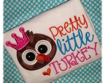 Pretty Little Turkey Applique Onesie or TShirt