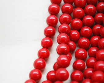 Bamboo Coral Round Dyed 8mm/10mm