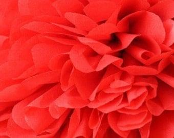 Mandarin red tissue pom pom/party poms/birthday pompoms/DIY/Baptism/baby shower/hanging poms/nursery pom pom/pompoms/party decorations