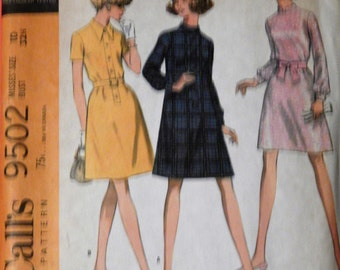 McCall's 9502 Vintage dress pattern Size 10