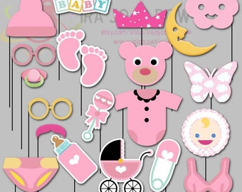 baby shower photo booth props etsy fr. Black Bedroom Furniture Sets. Home Design Ideas