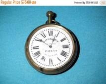 SALE Swiss pocket watch,Systeme Roskopf  Patent,antique clock 1970's,made in swiss,collectors watch,roman dial clock,neck clock
