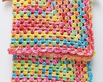TOOT SWEETS - Crochet Blanket Pattern Rainbow crochet Blanket Pattern Baby Crochet Blanket Pattern Easy crochet Blanket  pattern Baby Afghan