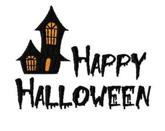 Embroidery Design Happy Halloween 8 - DIGITAL DOWNLOAD PRODUCT