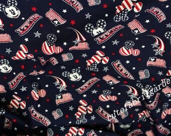 Cotton Fabric - 1 Meter Animal Cartoon Fabric - Mickey Mouse Fabric -  Minnie Mouse - Animals Print (W140cm)
