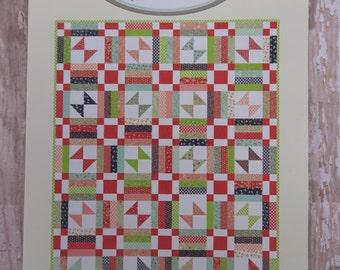 Picnic Quilt Kit - Vintage Picnic - Moda - Bonnie Olaveson- Pattern Fabric