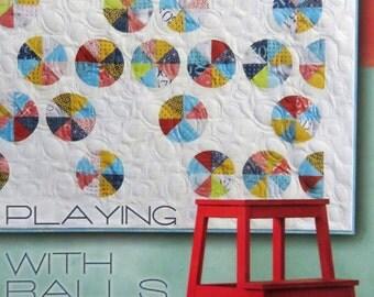 Playing With Balls Quilt Pattern - Zen Chic - Brigitte Heitland - Moda - PBQP - Figures Collection - Advanced