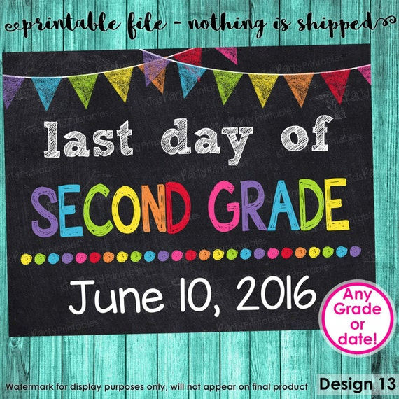It is a picture of Transformative Last Day of 2nd Grade Printable