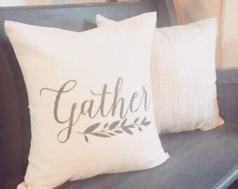Gather Farmhouse Pillow