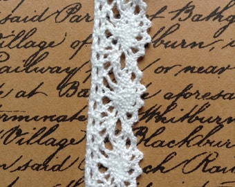 Blenheim Cotton Lace - Ivory - 13mm - price per metre