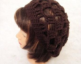Brown Slouchy Hat, Coffee, Dark Brown, adult slouch hat, crochet slouch hat, crochet slouchy hat, brown slouch hat, brown summer hat, brown