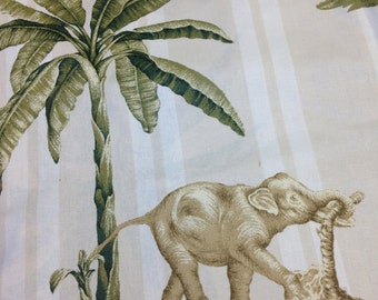 2 yards Elephant fabric from Thailand