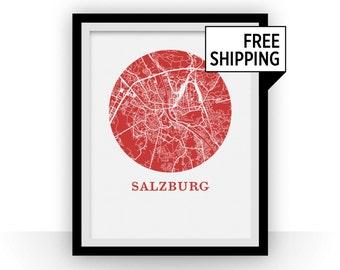 Salzburg Map Print - City Map Poster