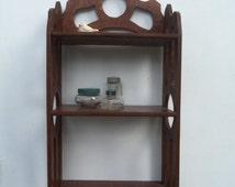 Handmade Wood Curio Shelf
