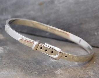 Belt Bangle, Silver Bangle, Unique Jewelry, Silver And Gold, Sterling Silver, Cuff Bangle, Mixed Metals, Silver Belt, Belt Bracelet, Silver