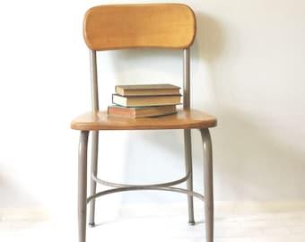 Sale! Heywood Wakefield, Large, School Desk Chair, Office Chair, Industrial Dining