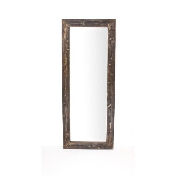 Rustic Wooden Distressed Espresso Full Length Mirror