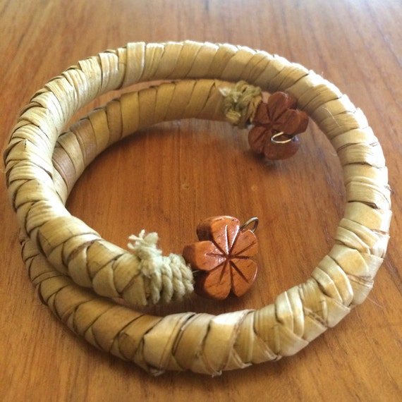 Hawaiian Lauhala Coil Bracelets One-Size-Fits-All Wrap-Around  Made in Hawaii Gifts Deesigns by Harris ©