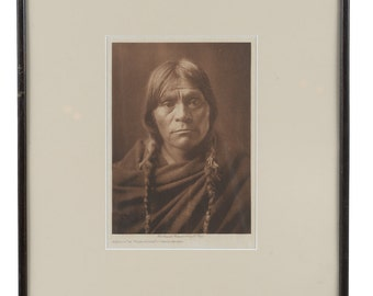 San Ildefonso  -original 1905 Native American Tissue Gravure Photograph by Edward Curtis