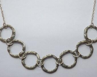 Zamak circles necklace