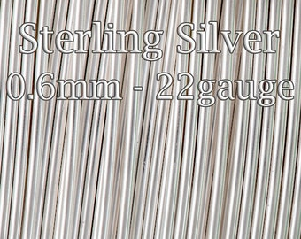 Sterling Silver Wire , wholesale wire Half Hard 22ga 0.6mm, choose 3 10 30 50 fett, solid silver wire round, jewelery wire bulk 20%discount