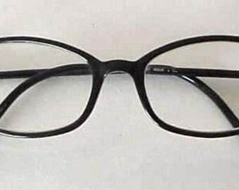 First Issue Eyeglass Frames Black on Outside Iridescent on Inside