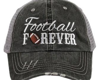 Football Forever Hat ~ Football Hat ~ Football Trucker Hat ~ Football Mom Hat ~ Super Cute