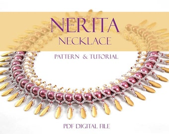 Beading Pattern Nerita Necklace Netting Stitch Tutorial
