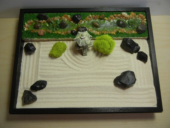 Special 2 In 1 Medium Japanese Garden With Pond And Stream Or