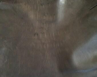 Italian Lambskin Leather hide - Brown