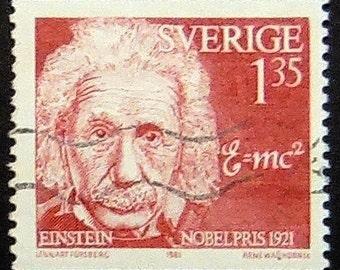 Albert Einstein Nobelpris 1921 -Handmade Framed Postage Stamp Art 0977AM