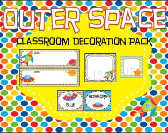 Outer Space Classroom Decoration Pack