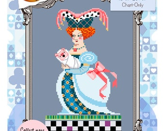 Brooke's Books Wonderland The Duchess Cross Stitch Chart-Only (Instant Download)