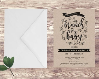 brunch invitation  etsy, Baby shower