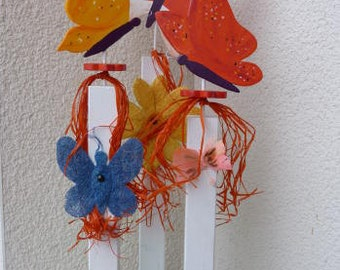 Wooden figurines - decoration - spring - summer