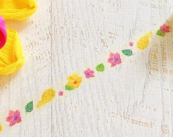 Tropical Hibiscus and Pineapple Tape 15mm