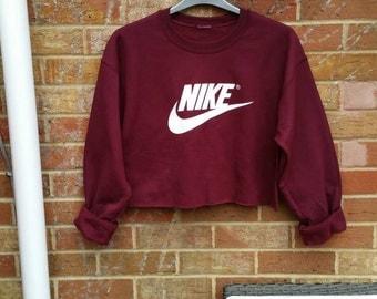 sassy customised nike cropped jumper sweatshirt festival swag