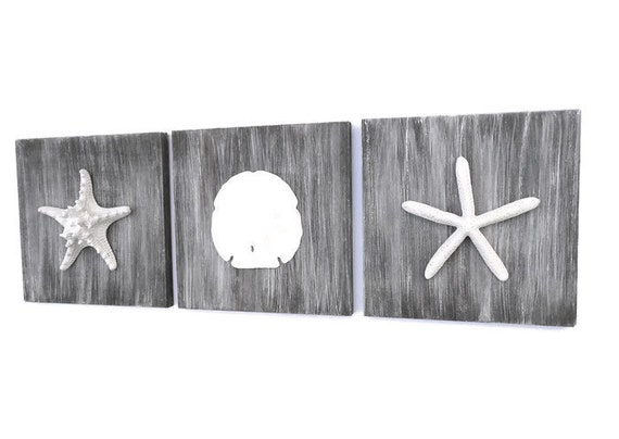 Cottage Chic Set Of Beach Decor Wall Art Nautical Decor Wall Art
