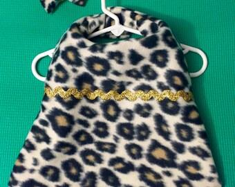 Leopard Print Fleece Pet Jacket, Leopard Print Fleece Dog Jacket, Fleece Dog Jacket, Fleece Pet Jacket, Fleece Dog Dress, Fleece Pet Dress