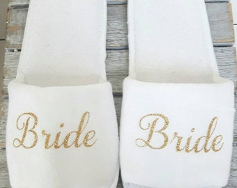 Bridal Spa Slippers,Bride,Wedding,Slippers,Bridesmaid