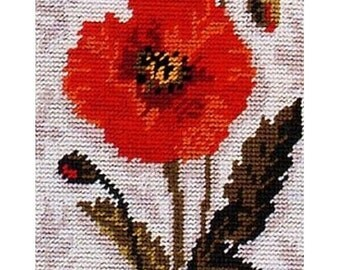 Poppy needlepoint tapestry kit (Anchor)