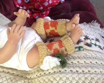 Knit Giraffe Baby Leggings