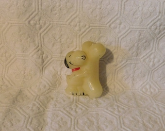 Vintage Snoopy with Bone Candle