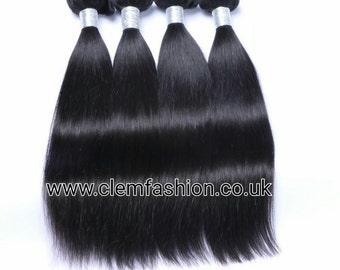 3 Bundle Peruvian Virgin Human Hair Extensions Grade 8A Straight - 300g