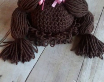 Crochet Cabbage Patch Wig Halloween Costume