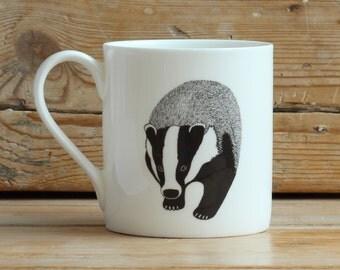 Badger china mug
