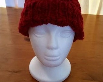 Beanie, raspberry red, wool, womens, ladies, winter hat, cosy, hat