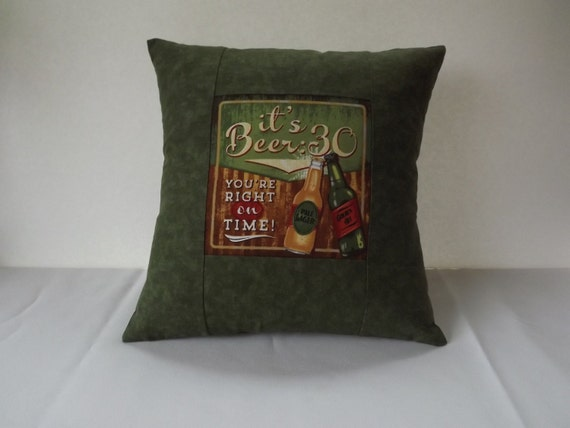 Man Cave Pillows : Man cave pillow it s beer accent