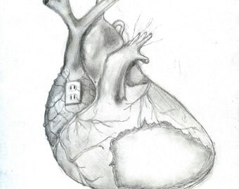 "Print of Original Pencil Drawing ""Infection"" by Marta Manning, 8 by 10 inch"